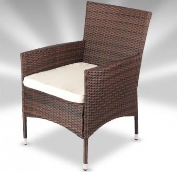 Super Havemøbler, rattan, brun - 17 dele OQ81